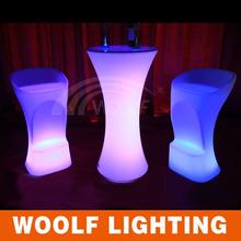 Mesa de luz LED modo de cóctel moderno decoración del partido