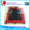 pvc laminated tarpaulin for truck cover with D-rings