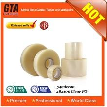 3M subsidiary bopp box packing self adhesive tape plant, bopp acrylic jumbo roll, finished rolls