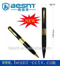 BESNT cheapest Pen hidden camera with sd card slot, portable pen mini DV camera Sliver Pen Mini hidden dvr camera BS-723