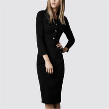Temperament long-sleeved package hip dress ,online shopping for clothing
