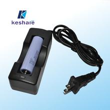 Keshare good price Single Channel Smart Charger 3.7v li ion battery charger 18650 single charger