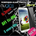 Nuglas new arrival ultra thin tempered glass screen protector film for galaxy s4