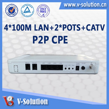 FTTH P2P CPE Support CATV receiver, VOIP and Wi-Fi