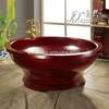 Solid wood cedar red hot tub, outdoor sexy hot tub massage spa