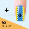 Aeronaves de uñas de arte pegatinas, agua calcomanías de uñas