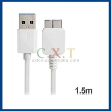 1.5 m USB 3.0 Charging Data Cable for Samsung Galaxy Note 3/N9000 (White)