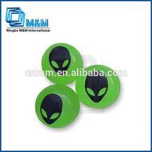 Luminous Bouncing Ball With Alien'S Face High Bouncing Ball