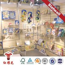 Melamine mdf sheet slotted angle rack for fruit shops bracket