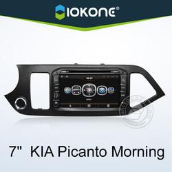 IOKONE chinese wholesale 7'' inch kia picanto car radio price , kia picanto model with GPS , IPOD , Wifi/3G , SWC , BT