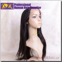 Wholesale DK hair products 100% brazilian human hair,peruvian virgin hair full lace wigs