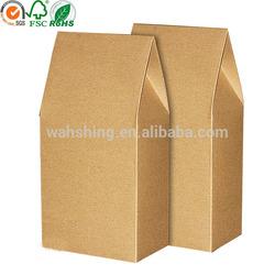 Rigid and strong kraft waterproof paper bag for nut packaging