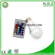 shenzhen 16 colors rgb plastic aluminum warm white non-rechargeable led bulb