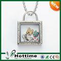 top vendita flottante in acciaio inox charm in argento medaglione mobile