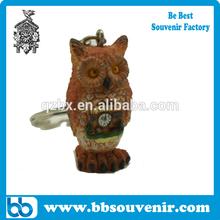 resin owl keychain