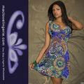 ml18044 2014 venta al por mayor de verano de colores patrones africano vestido bohemio el modelo de vestido de áfrica