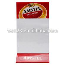 Plastic Card Holder&Desktop Menu card holder with custom logo for Restaurant promotion
