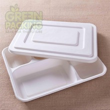 Biodegradable disposable food packaging with 5 compartment