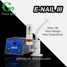 2014 Titanium nail glass smoking pipe for dry herb wax oil vaporizer