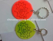 Promotion Reflective key chain, soft pvc key chain custom,,reflect craft sticker custom