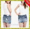 Novo modelo sexy meninas saia jeans, nova moda jeans rasgado saias, cool destruído as mulheres saia jeans, elegantes mulheres saia jeans