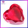 Fashionable heart shape red flat bottom glass gems
