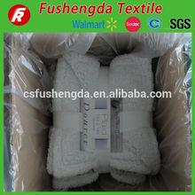 glue bonded sherpa fur blanket