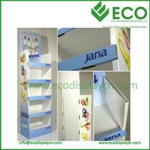 Five shelves pop up cardboard display stand , cardboard display stand for cheese