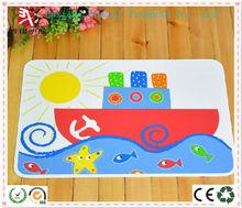 children style ship pattern pvc table mat, pvc placemat