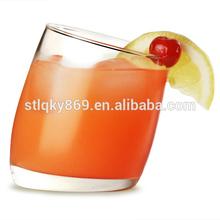 lyT1427 Longyu Glassware Factory Tilted Old Fashioned Tumblers 10oz / 300ml Slant Drinking Glass Clear Slant Glass Highball