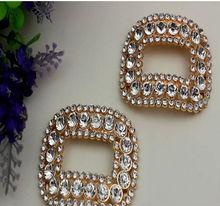 crystal gold metal shoe clip metal shoe accessory rhinestone metal shoe clip