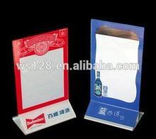 Menu holder&Desktop Menu card holder with custom logo for Restaurant promotion