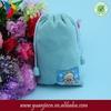 Wholesale small drawstring custom velvet gift bags