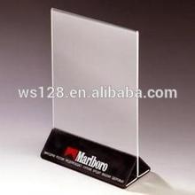 Menu card stand&tabletop Menu card holder with custom logo for Restaurant promotion