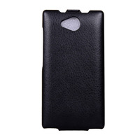 BLACK LEATHER CASE COVER FOR NOKIA ASHA 503 & SCREEN GUARD