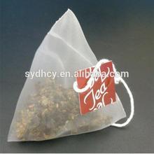 Biodegradable Empty Nylon Pyramid Tea Bags With String Empty Tea Bag