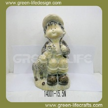 Kids figurine garden ornament