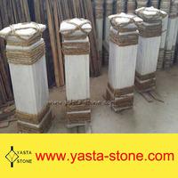 white marble stone terrace balustrade