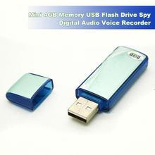 Mini 4GB Digital USB Flash Drive Disk Pen Voice Audio Recorder Recording 150Hrs
