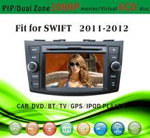 car dvd vcd cd mp3 mp4 player fit for Kia Suzuki Swift 2011 - 2012 with radio bluetooth gps tv pip dual zone