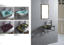 new style high quality tempered bathroom glass wash basin