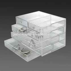 Transparent customized acrylic jewelry display case