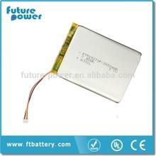 li-ion battery 3.7v 2000mah for E-Book