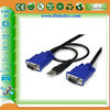 2-in-1 USB KVM cables KVM VGA 15 Pin Male to Male Cable for keyword and mouse