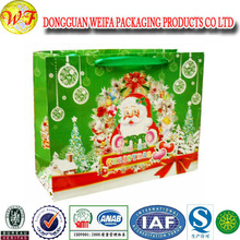 2013 Christmas waterproof High quality tote bag Eco friendly Recycled PP woven plastic bag