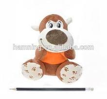 15cm plush animal in t-shirt,stuffed big mouth monkey