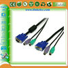 New 10 Ft 3-in-1 Male/Male PS/2 KVM Cable, Keyboard VGA Mouse cable