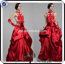 TT0499 Magenta ivory red wedding dress pictures