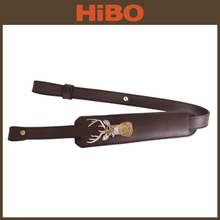 Top grain leather gun sling for rifle
