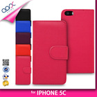 PU LEATHER BOOK WALLET FLIP MOBILE CASE COVER FOR IPHONE 5 5C